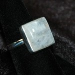 Rainbow Moonstone Ring - Size 9