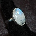 Rainbow Moonstone Ring - Size 8