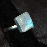 Rainbow Moonstone Ring - Size 7.5