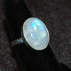 Rainbow Moonstone Ring - Size 7
