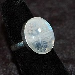 Rainbow Moonstone Ring - Size 6