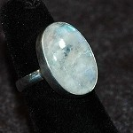 Rainbow Moonstone Ring - Size 6.5