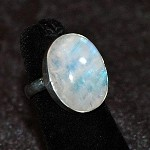 Rainbow Moonstone Ring - Size 5
