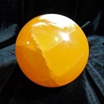 Polished Sphere - Orange Calcite